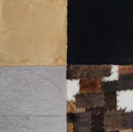 Kuschelland - verfügbare Plüschfarben: Beige, Patchwork, Hellgrau, Dunkelblau